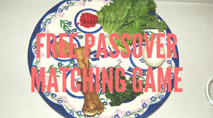 Free Passover Matching Game